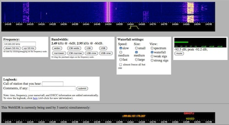 Ham radio online receiver at K7UEB.