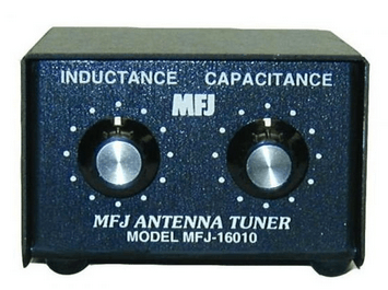 MFJ-16010 L-network tuner for end-fed single wire antennas.