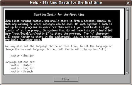 Starting Xastir ham radio software for the first time.