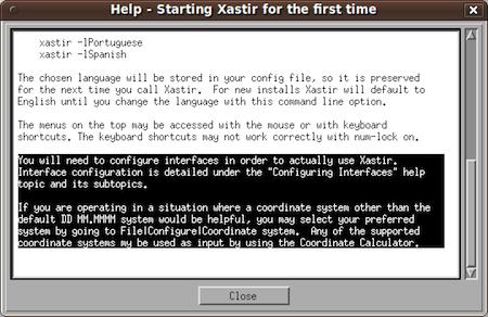 Xastir ham radio software help on configuration.