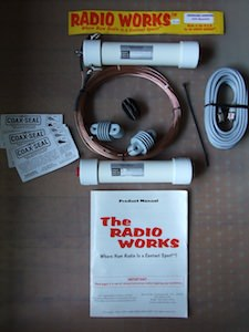Carolina windom antenna - components of the CW 160 Special by Radio Works.