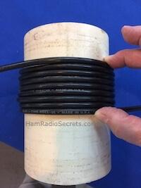 RF choke coil length on PVC tube