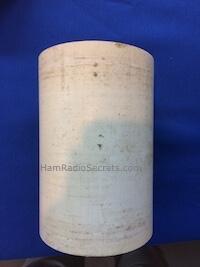 RF choke drill hole markings for RF choke on PVC tube