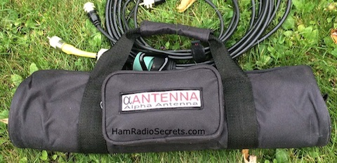 The Alpha ezMilitary antenna carry bag.