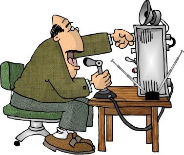 A ham radio cartoon on HamRadioSecrets.com