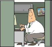 Ham radio cartoons. Ham radio operator caught shopping for his next SDR rig on the Web.
