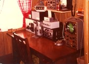 VE2DPE ham radio operator shack in 1974