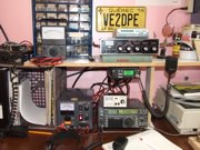 Ham radio operator shack of VE2DPE today.