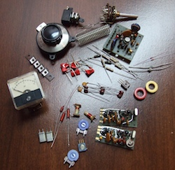 Parts for ham radio projects.
