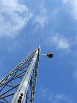 A ham radio tower.