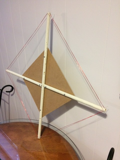 Homemade tuned loop shortwave antenna