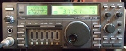 ICOM ham radio IC-735 HF transceiver.
