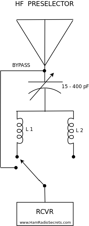 HF preselector circuit diagram (small view)