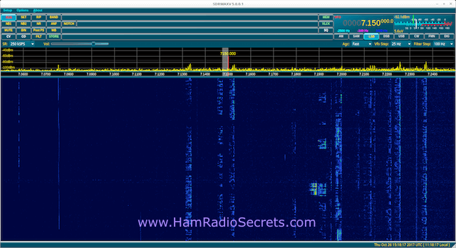 Screenshot of SDRMAX5 Software for QS1R SDR Receiver