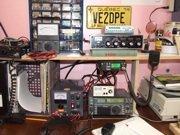 Ham radio operator shack of VE2DPE today.