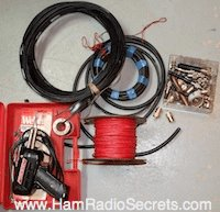 Ham radio wire antenna parts.